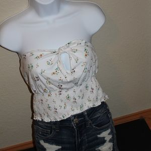 NWT FLORAL TUBE TOP